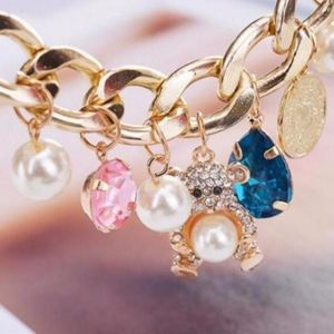 Adorable Betsey Johnson Teddy Bear Bracelet